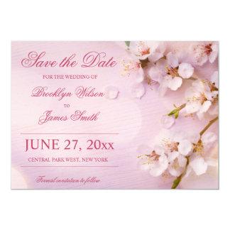 """Reserva elegante del boda de la flor de cerezo las invitación 5"""" x 7"""""""
