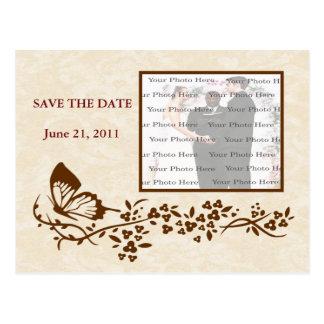 Reserva elegante del boda de la mariposa la postal