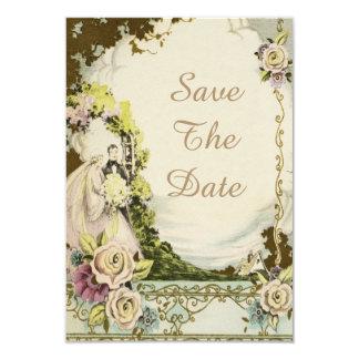 Reserva elegante del boda de la novia y del novio invitación 8,9 x 12,7 cm