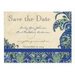 Reserva elegante del boda de Paisley del vintage Postal