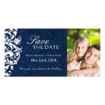 Reserva elegante del boda del invierno la invitaci tarjeta con foto personalizada