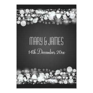 Reserva elegante del boda el negro punteado fecha invitación 12,7 x 17,8 cm