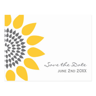 Reserva elegante del girasol la fecha tarjetas postales