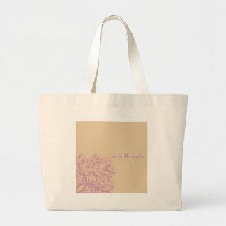 Reserva elegante el diseño floral de la fecha bolsa