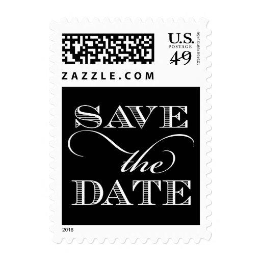 Reserva elegante el sello de la fecha