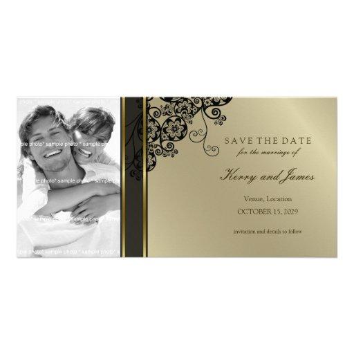 Reserva elegante floral de la moda del vintage de tarjeta personal