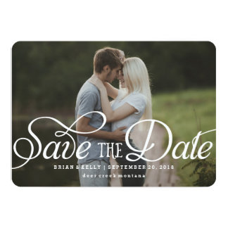 "Reserva elegante la tarjeta de la foto de la fecha invitación 5"" x 7"""