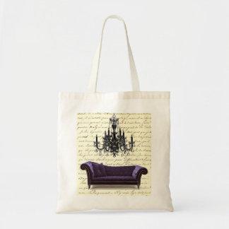 Reserva elegante lamentable de la lámpara del sofá bolsa lienzo