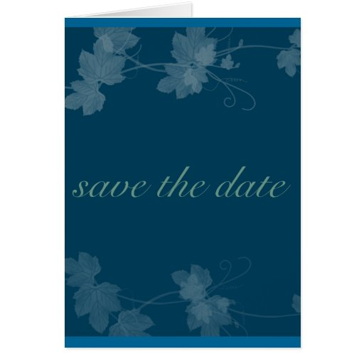 Reserva elegante las vides de la fecha azules tarjeta de felicitación