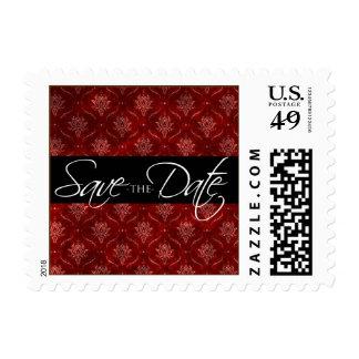 Reserva elegante machacada del terciopelo rojo la sellos