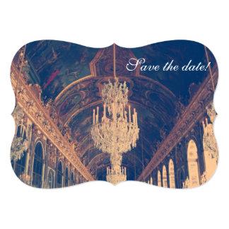 """Reserva elegante parisiense de la lámpara la fecha invitación 5"""" x 7"""""""