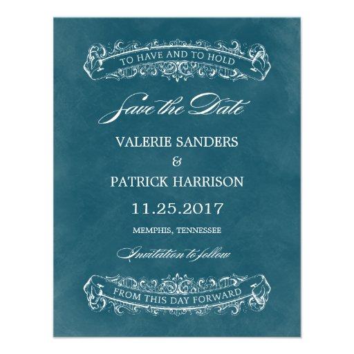 Reserva elegante rústica del boda la fecha - trull invitaciones personales