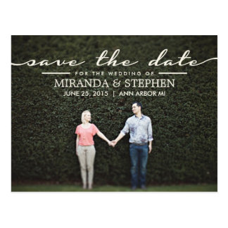 Reserva elegante simple del boda la postal de la f