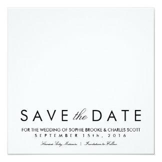 Reserva elegante simple del cuadrado la plantilla invitación 13,3 cm x 13,3cm