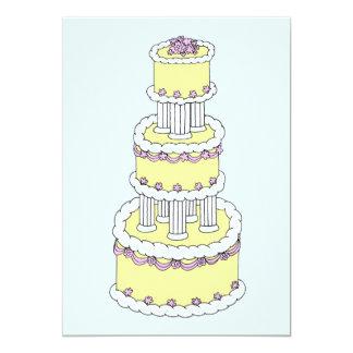 """Reserva en colores pastel del pastel de bodas la invitación 5"""" x 7"""""""