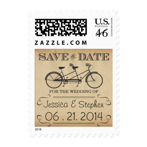 Reserva en tándem de la bicicleta del vintage el f sello