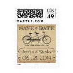Reserva en tándem de la bicicleta del vintage el sello