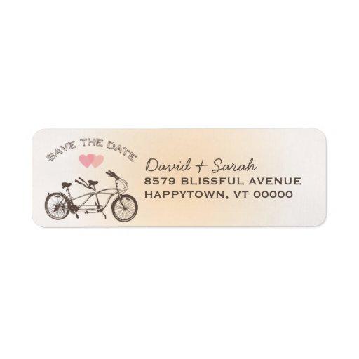 Reserva en tándem de la bicicleta la etiqueta de f etiquetas de remite