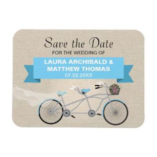 Reserva en tándem de la bicicleta la fecha imanes de vinilo