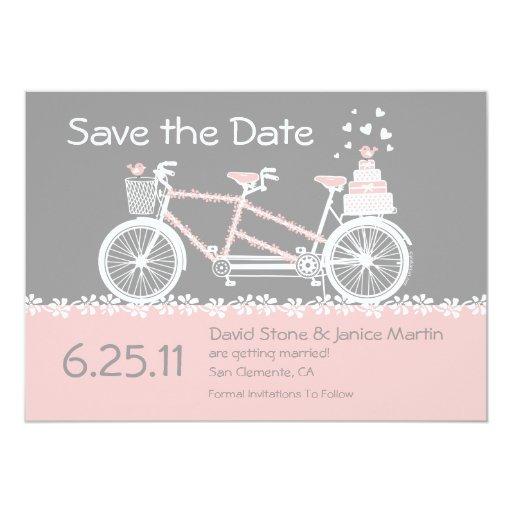 Reserva en tándem de la bicicleta la invitación de invitación 12,7 x 17,8 cm