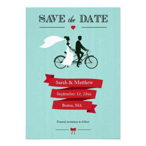 Reserva en tándem de la bicicleta las tarjetas de  anuncios