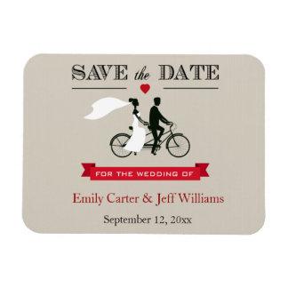 Reserva en tándem del boda de la bicicleta los imanes de vinilo