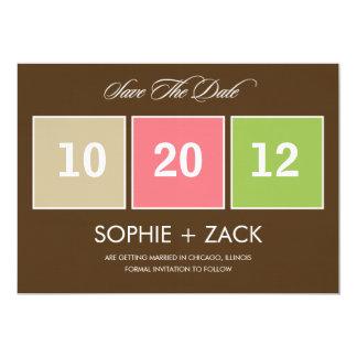 Reserva encajonada del calendario las invitaciones invitación 12,7 x 17,8 cm