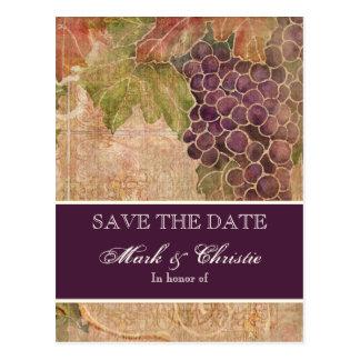 Reserva envejecida del viñedo de la uva la postal
