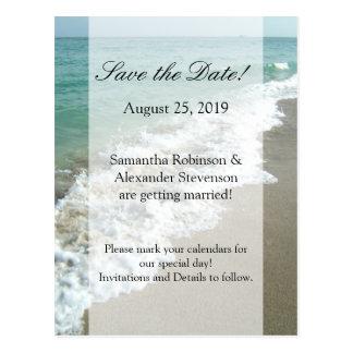 Reserva escénica del boda del destino de la playa  tarjetas postales