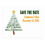 Reserva estilizada del árbol de navidad la postal