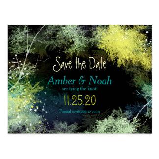 Reserva estrellada del boda del invierno del indie tarjeta postal