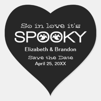 Reserva fantasmagórica de Halloween de la Pegatina Corazon
