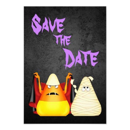 Reserva fantasmagórica linda de Halloween el aviso Invitaciones Personales