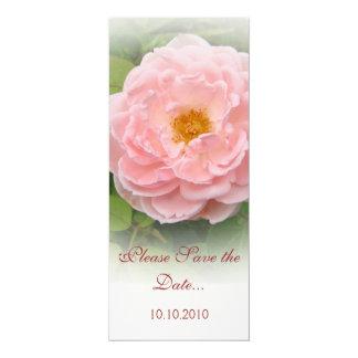 """Reserva--fecha color de rosa rosada invitación 4"""" x 9.25"""""""