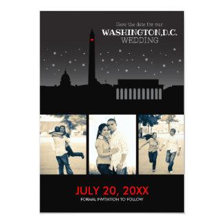 """Reserva--fecha de Washington D.C. Wedding Invitación 5"""" X 7"""""""
