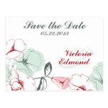 Reserva floral abstracta la postal de la fecha