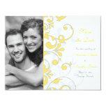 Reserva floral abstracta la tarjeta de fecha invitaciones personalizada