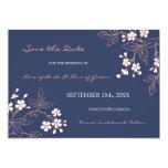 Reserva floral azul del boda del vintage la fecha anuncios personalizados