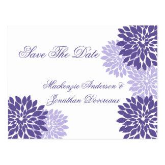 Reserva floral blanca de la lavanda púrpura la fec postales