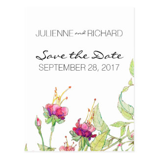 Reserva floral bohemia del jardín el | la fecha tarjetas postales