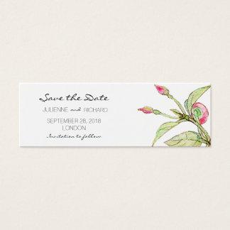 Reserva floral bohemia del jardín el | las mini tarjeta de visita pequeña