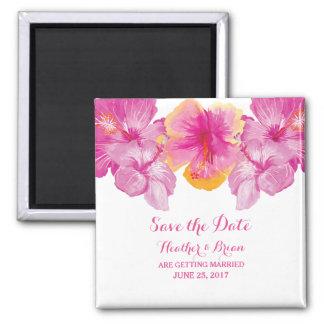 Reserva floral cepillada del hibisco el imán de la