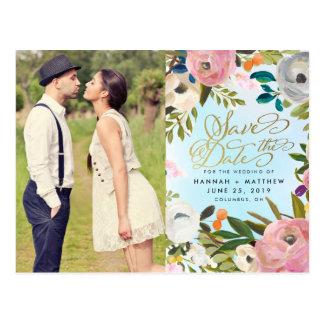 Reserva floral de la foto del jardín ideal del tarjetas postales