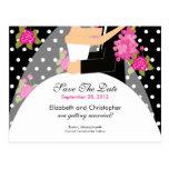 Reserva floral de la novia y del novio la invitaci postal