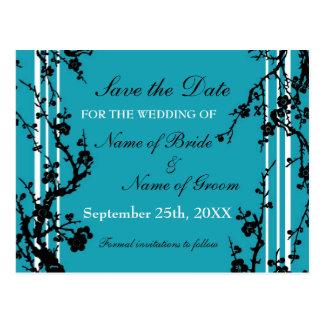 Reserva floral de la turquesa la postal del boda d
