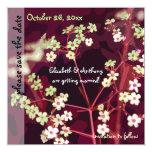 Reserva floral del boda del colorete la invitación