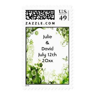 Reserva floral del boda del verde esmeralda de la franqueo