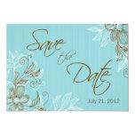 Reserva floral del boda la fecha comunicados personalizados