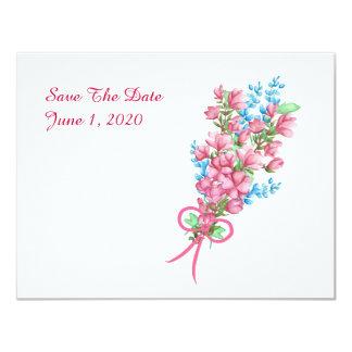 """Reserva floral del cenador de la acuarela las invitación 4.25"""" x 5.5"""""""