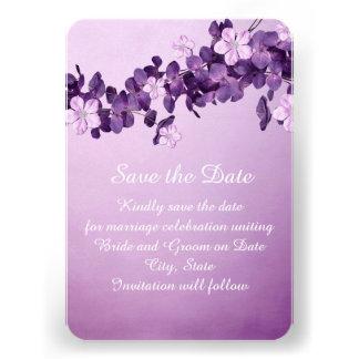 Reserva floral del jardín de la lavanda la fecha invitacion personal
